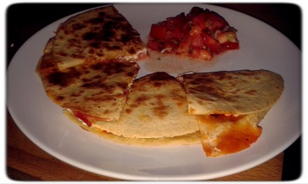 The finished quesadilla!