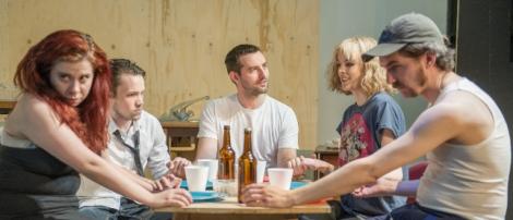 The cast of Killer Joe, Photo by Mandy King, borrowed from www.progresstheatre.co.uk