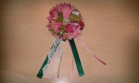 The finished corsage!