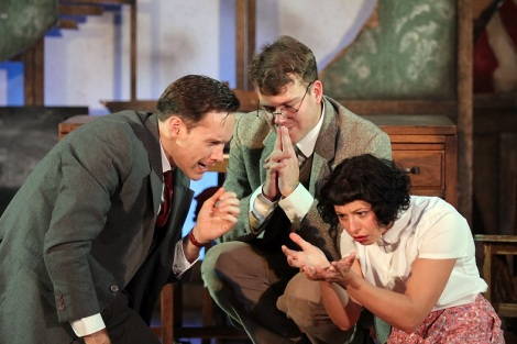 Otto (Richard Ede), Ernst (Alasdair Buchan) and Ilse  (Jess Mabel Jones)