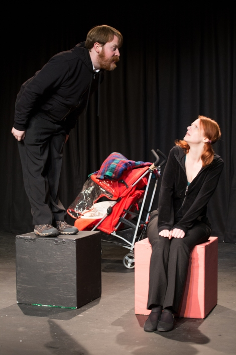 Chris Hoult and Emma Wyverne in Grow Up. Photo by Aidan Moran.