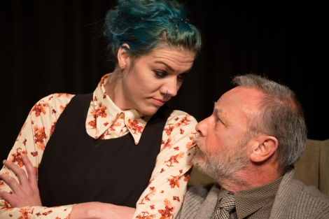 Kelly Hugo and John Goodman in Inheritance. Photo by Aidan Moran