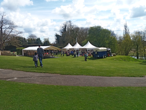 The river lawn which was host to the champagne bar, Rebellion tent, River Rowing Museum stall and coffee/tea vans